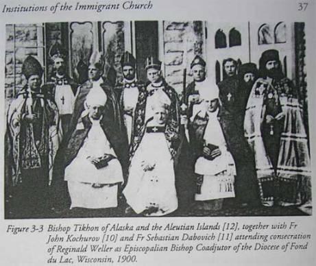 Szent Tyihon és angikán főpapok
