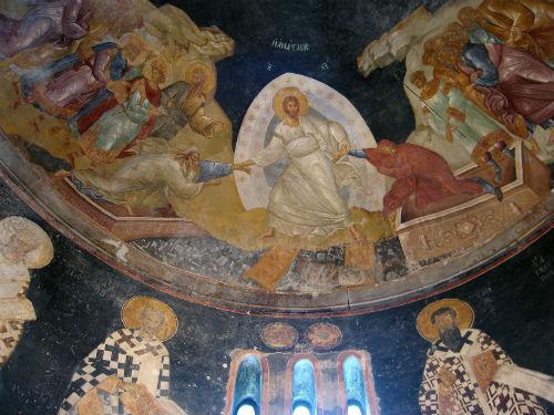 Feltámadás, Khora-i Megváltó-templom, Konstantinápoly (Kariye Dzsámi), 14. sz.