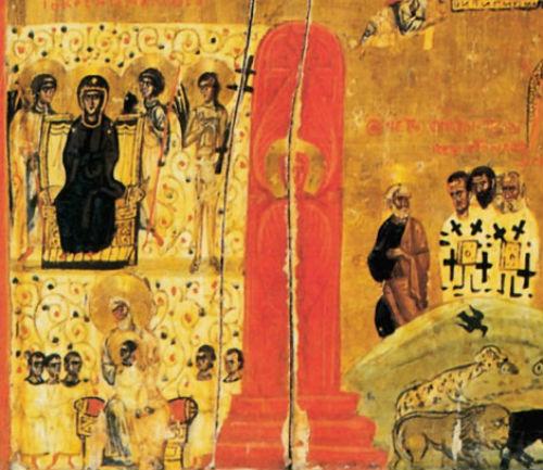 Ábrahám öle. Sínai-hegyi monostor, XII. sz.