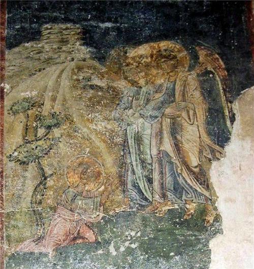 Ábrahám ősatya fogadja a Szent Háromságot. Ohrid, 1050-es évek