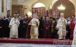 Őszentsége II. Illés grúz patriarcha, Őszentsége I. Bartholomeosz egyetemes konstantinápolyi patriarcha és Őszentsége Irinej szerb patriarcha