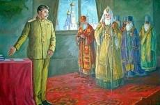 """Szovjet pravoszláv mitológia: """"Sztálin és az Egyház összhangja"""""""