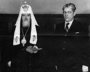 I. Alekszij patriarcha és a kemény csekista múltú Karpov, az Egyházat felügyelő hivatal vezetője