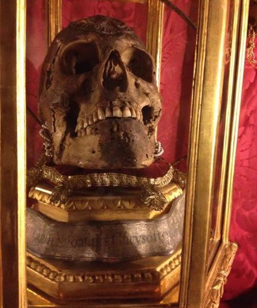 Aranyszájú Szent János fejereklyéje Firenzében
