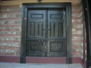 Az Egyetemes Patriarchátus rezidenciájának lezárt főkapuja