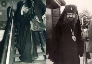 Szent János sokat utazott (mert nyája szétszóródott szerte a világban). 1951-ben Brüsszel és Nyugat-Európa orosz emigráns érseke lett. Néhány évvel később a Nyugat-Ameriaki Egyházmegye élére került (a jobb képen: Szent János San Francisco-ban)